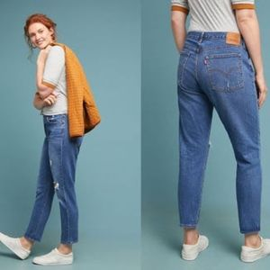 Levi's Wedgie Ultra High Rise Straight Jeans